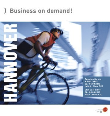 Flyer CeBIT 2010 - hannoverimpuls