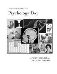 Psychology Day - Muhlenberg College