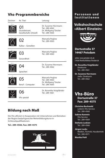 Vhs-Büro - Deutsches Institut für Erwachsenenbildung