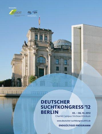 Wissenschaftliches Programm - Deutscher Suchtkongress 2013