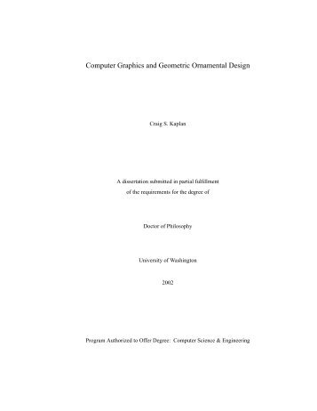 Computer Graphics and Geometric Ornamental Design - GRAIL