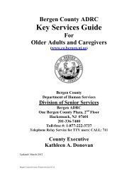 Senior Services Guide for Older Adults and ... - Bergen County