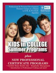 Summer 2012 Programs - Burlington County College