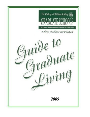 Guide to Graduate Living - College of William and Mary
