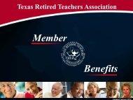 Member Benefits - The Texas Retired Teachers Association