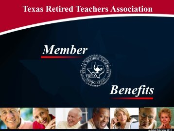 Member Benefits - The Texas Retired Teachers Association