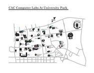 CAC Computer Labs At University Park