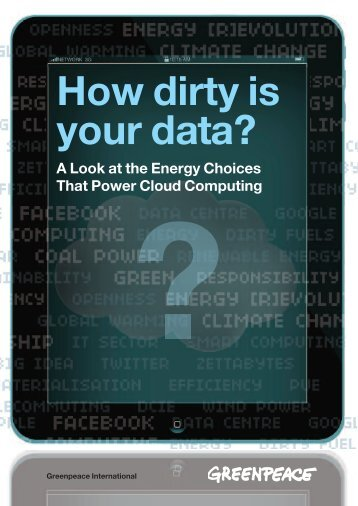 """How Dirty is your Data?"" report - Greenpeace"