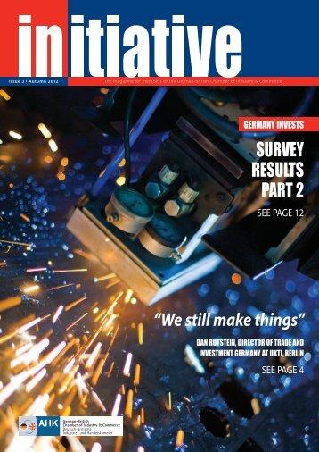 We still make things - Deutsch-Britische Industrie