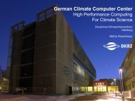 German Climate Computer Center - ISSMES