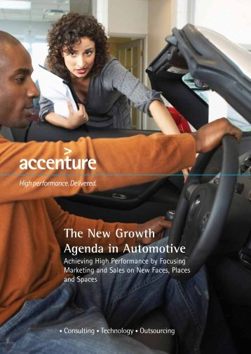 The New Growth Agenda in Automotive