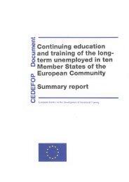 o term unemployed in ten Q Member States of the o_ ... - EU Bookshop