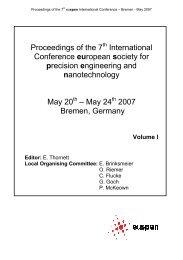 nanotechnology - Euspen