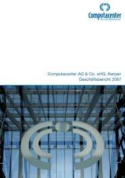 Computacenter AG & Co. oHG, Kerpen Geschäftsbericht 2007