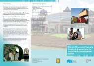 Blended Learning Training Quality Infrastructure for Sustainable - PTB