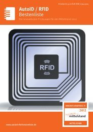 Bestenliste AutoID / RFID - IT-Bestenliste