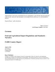FAIRS Country Report Food and Agricultural Import Regulations and ...