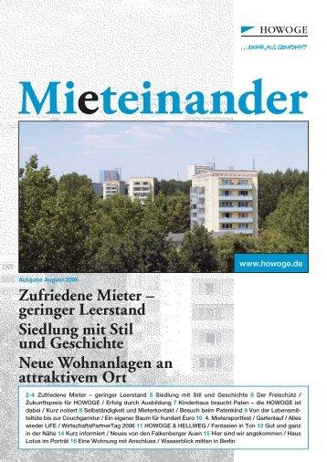 Zufriedene Mieter - HOWOGE Wohnungsbaugesellschaft mbH