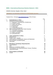 IBSN – International Business Studies Network > SEA - Exchange ...