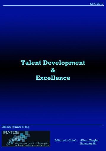 Talent Development & Excellence - iratde