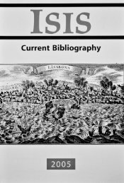 Isis Current Bibliography 2005, Vol. 96 - History of Science Society