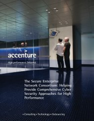 The Secure Enterprise Network Consortium: Helping Provide ...