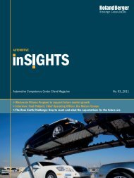Automotive inSIGHTS 3/2011 - Roland Berger