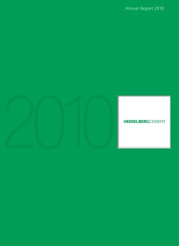 Annual Report 2010 - Investor-Relations