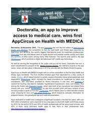 Doctoralia, an app to improve access to medical care, wins first ...