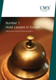 Number 1 Hotel Lawyers in Europe - CMS