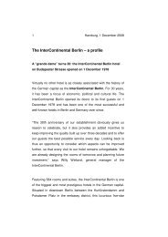 The InterContinental Berlin – a profile - Union Investment