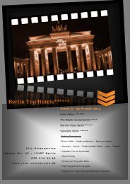 Berlin Top Hotels - City ReiseService