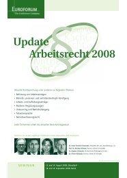Update Arbeitsrecht 2008 - Kliemt & Vollstädt