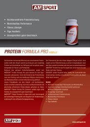 Protein FORMULA PRO Vanille - Fitness First Shop
