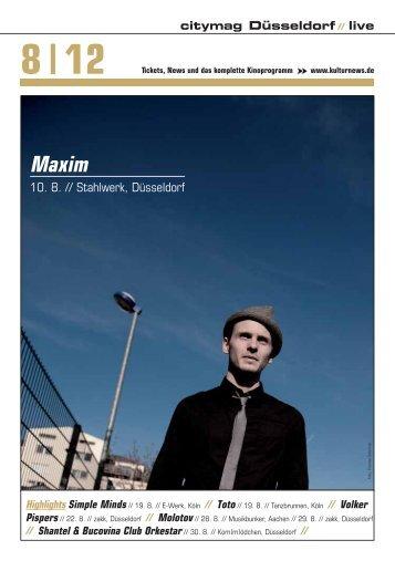 Maxim - Kulturnews