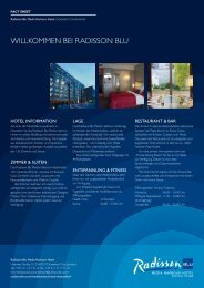 Fact Sheet - Radisson Blu