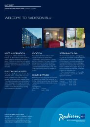 Meeting Fact Sheet - Radisson Blu