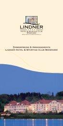 Zimmerpreise & Arrangements Lindner Hotel ... - location.de