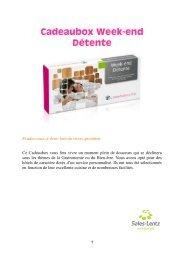 Cadeaubox Week-end Détente - Sales-Lentz