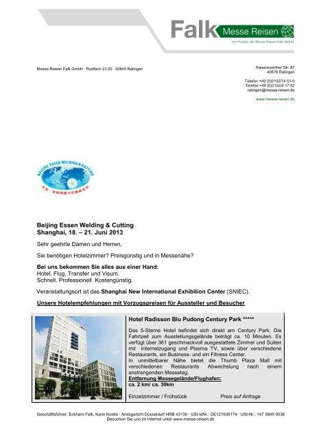 Beijing Essen Welding & Cutting 2013 - Messe Reisen Falk