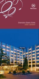 Sheraton Essen Hotel - Starwood Hotels & Resorts Worldwide, Inc.