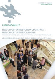 PUBLICATIONS 27 NEW OPPORTUNITIES FOR CO-OPERATIVES ...