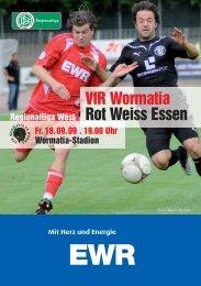 18.09.2009 Rot-Weiss Essen - Wormatia Worms