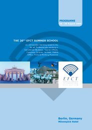 the 20th efct summer school