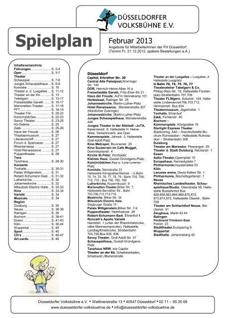 Spielplan Februar 2013 fhd