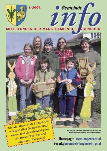 Aktuell - Marktgemeinde Langenrohr