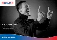 Company profile Kuebler Sport English - Kübler Sport GmbH