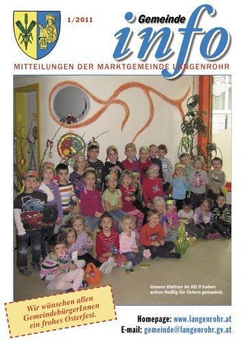 Gemeinde Info (1,82 MB) - Marktgemeinde Langenrohr