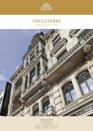 Angleterre Hotel Friedrichstraße 31 D-10969 Berlin Telefon: +49 (0 ...