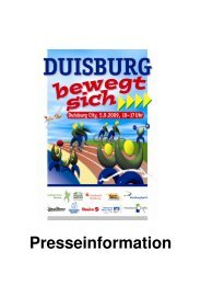 Presseinformation - Stadtsportbund Duisburg e.V.